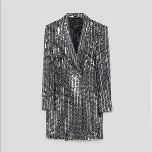 Zara metallic blazer